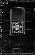 Window Signs Digital Art - Famous New Orleans PO BOYS Neon Window Sign Black and White Glowing Edges Digital Art by Shawn OBrien