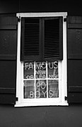 Window Signs Art - Famous New Orleans PO BOYS Red Neon Window Sign Black and White by Shawn OBrien