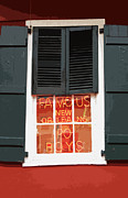 Window Signs Digital Art - Famous New Orleans PO BOYS Red Neon Window Sign Cutout Digital Art by Shawn OBrien