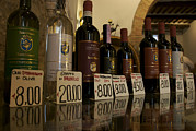 Italian Market Framed Prints - Famous Tuscan Wines For Sale At A Local Framed Print by Heather Perry