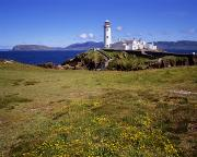 Head Harbour Lighthouse Prints - Fanad Lighthouse, Fanad Head, Co Print by The Irish Image Collection