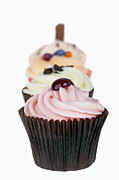 Fresh Food Prints - Fancy cupcakes Print by Jane Rix