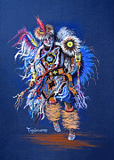 Male Pastels Originals - Fancy Dancer II by Tanja Ware