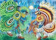 Nations Prints - Fancy Dancers Print by Arnold Isbister