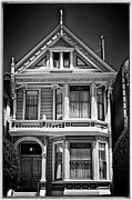 Alamo Square Framed Prints - Fancy House ll - black and white Framed Print by Hideaki Sakurai