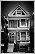 Alamo Square Framed Prints - Fancy House lV - black and white Framed Print by Hideaki Sakurai