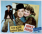 Lobbycard Photo Framed Prints - Fancy Pants, Bob Hope, Lucille Ball Framed Print by Everett