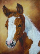 Equine Pastels Framed Prints - Fancy Portrait Framed Print by Margaret Stockdale