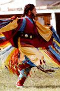 Pow Wow Posters - Fancy Shawl Dancer Poster by Terril Heilman