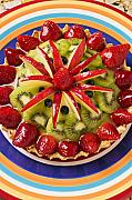 Food And Beverage Photo Metal Prints - Fancy tart pie Metal Print by Garry Gay