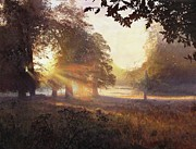 Amazing Sunset Paintings - Fangorn by Helen Parsley