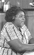 Civil Rights Movement Prints - Fannie Lou Hamer 1917-1977 Print by Everett