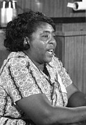 African-american Photo Framed Prints - Fannie Lou Hamer (1917-1977) Framed Print by Granger