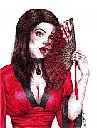 Fanning Flirtation Print by Scarlett Royal