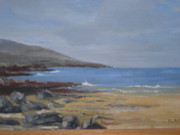 Fanore Painting Framed Prints - Fanore Beach Framed Print by Eilis Blake