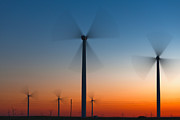 Turbines Photos - Fans in Twilight by Evgeni Dinev