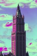 Woolworth Building Framed Prints - Fantastical Woolworth Framed Print by Christopher Kirby