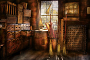 Drawers Prints - Fantasy - The Broom Maker Print by Mike Savad