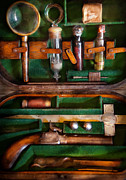 Pistol Framed Prints - Fantasy - Emergency Vampire Kit  Framed Print by Mike Savad