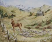 Colts Paintings - Fantasy Field by Kathleen Keller