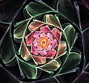 Fantasy Floral Expression 111311 Print by David Lane
