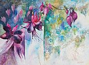 Semi Abstract Paintings - Fantasy Fuchsia by Kate Bedell