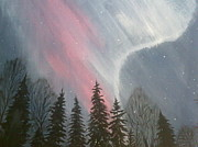 Snowy Night Paintings - Fantasy by Irina Astley