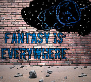 Astronauts Digital Art Posters - Fantasy Is Everywhere Graffiti Poster by Jera Sky