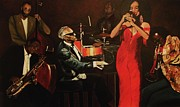 Kim Selig Prints - Fantasy Jazz Print by Kim Selig