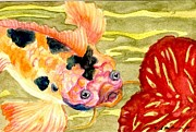 Japanese Tea Garden Paintings - Fantasy Koi by Lynn Maverick Denzer