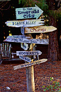 Emerald Prints - Fantasy signs Print by Garry Gay