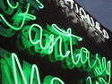 Folk Art Glass Art - Fantasy- signs of the stimes-TOP Neon Graffiti Collection by Signsofthetimescollection