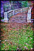 Painterly Photos - Fantasy Stairway by Olivier Le Queinec