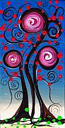 Abril Andrade Griffith Art - Fantasy Tree by  Abril Andrade Griffith