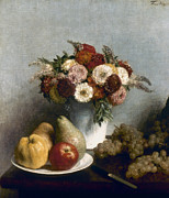 Pear Art Posters - Fantin-latour: Fruits, 1865 Poster by Granger