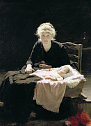 Mothers Day Paintings - Fantine by Margaret Hall