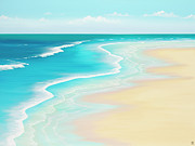 Surf Paintings - Far Away Summer Thoughts by Colin Perini