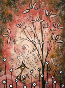 Dots Paintings - Far Far Away by MADART by Megan Duncanson