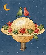 Love Birds Posters - Far Planet Poster by Kestutis Kasparavicius