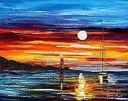 Yacht Painting Originals - Far Seas by Leonid Afremov