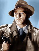 Trenchcoat Prints - Farewell My Lovely, Robert Mitchum, 1975 Print by Everett
