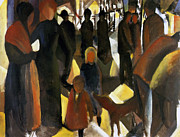Macke Framed Prints - Farewell Framed Print by Stefan Kuhn