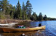 Boundary Waters Canoe Area Wilderness Posters - Farewell to Hope Lake Poster by Larry Ricker
