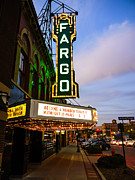 North Dakota Metal Prints - Fargo Theater and Downtown Along Broadway Drive Metal Print by Paul Velgos