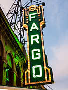 North Dakota Prints - Fargo Theatre Marquee at Night Photo Print by Paul Velgos