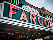 Marquee Framed Prints - Fargo Theatre Sign in North Dakota Framed Print by Paul Velgos