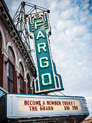 North Dakota Prints - Fargo Theatre Sign Photo Print by Paul Velgos