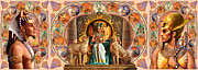 Farley Egyptian Triptych Print by Andrew Farley