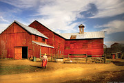 Barn Photos - Farm - Barn - Going back to the farm by Mike Savad