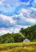 Farm Scenes Prints - Farm - Barn - Home on the range II  Print by Mike Savad